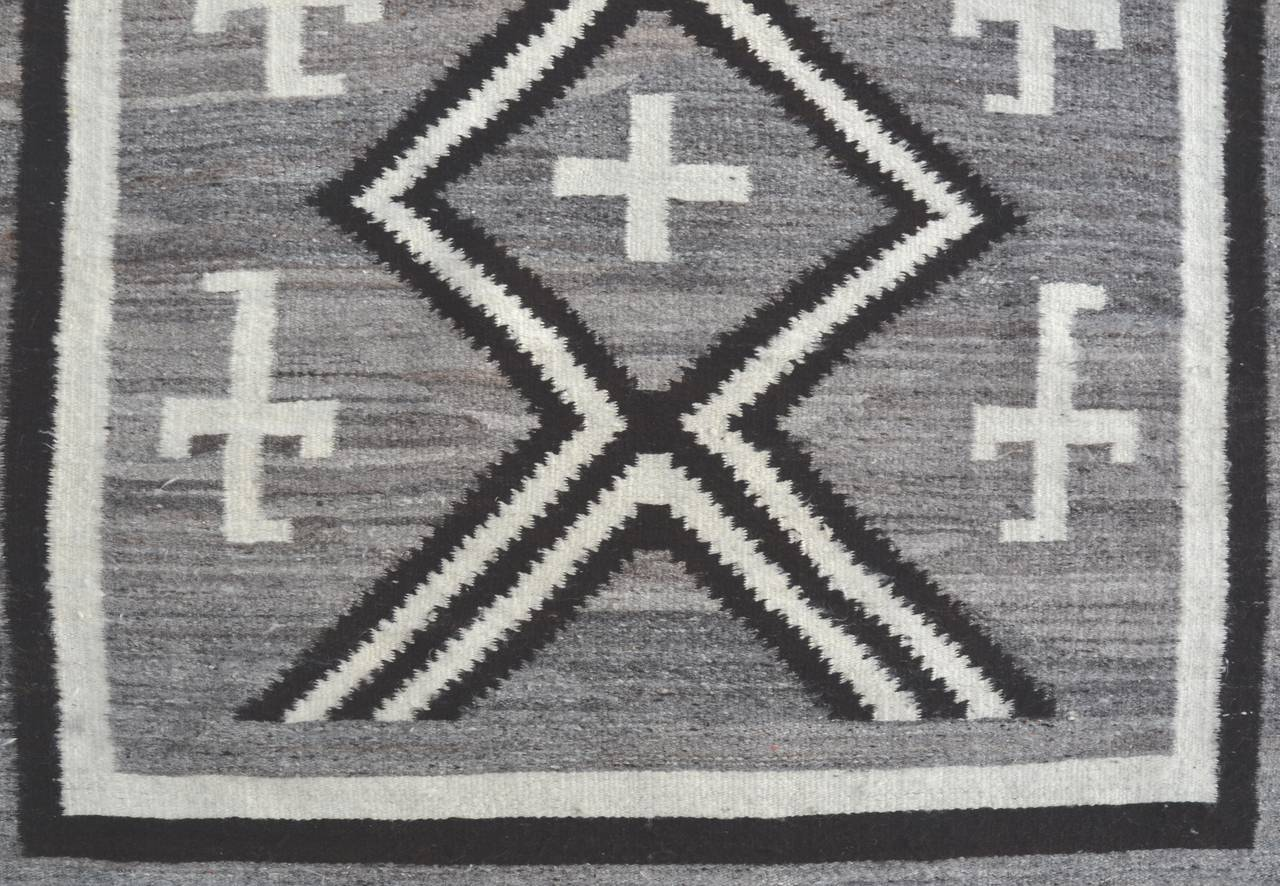 Navajo Rug With Spider Woman Cross And Whirling Logs 1900 At 1stdibs
