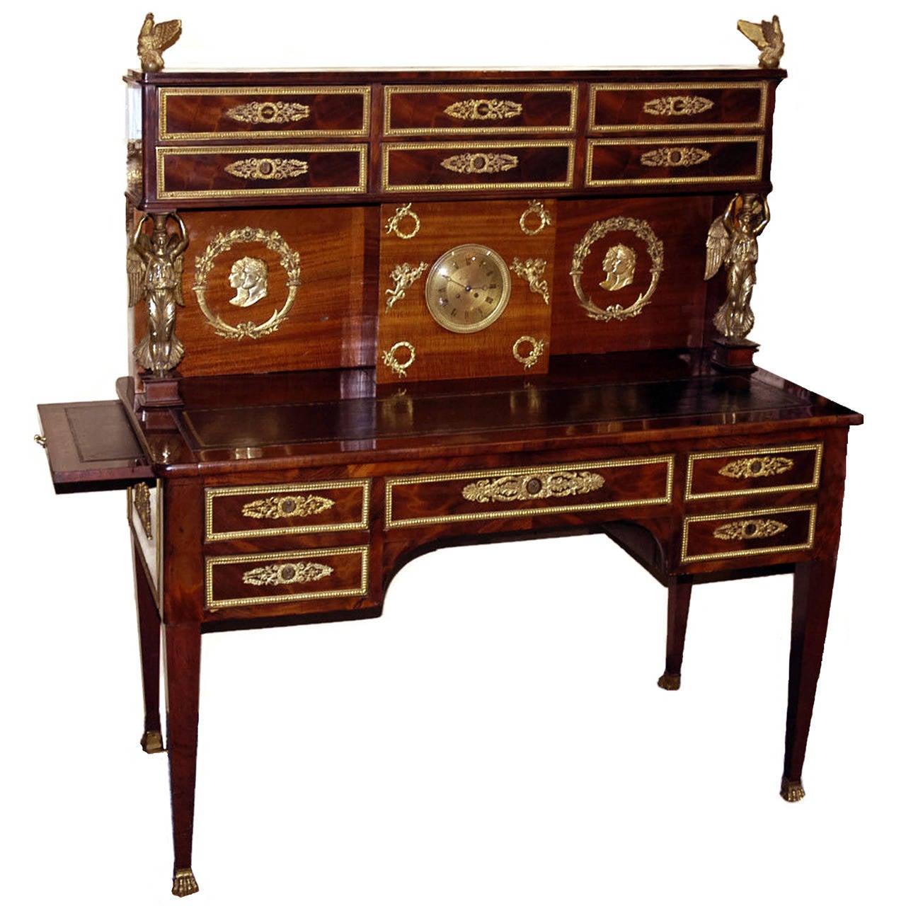 Bureau plat gradin with napoleonic theme for sale at 1stdibs for Bureau table
