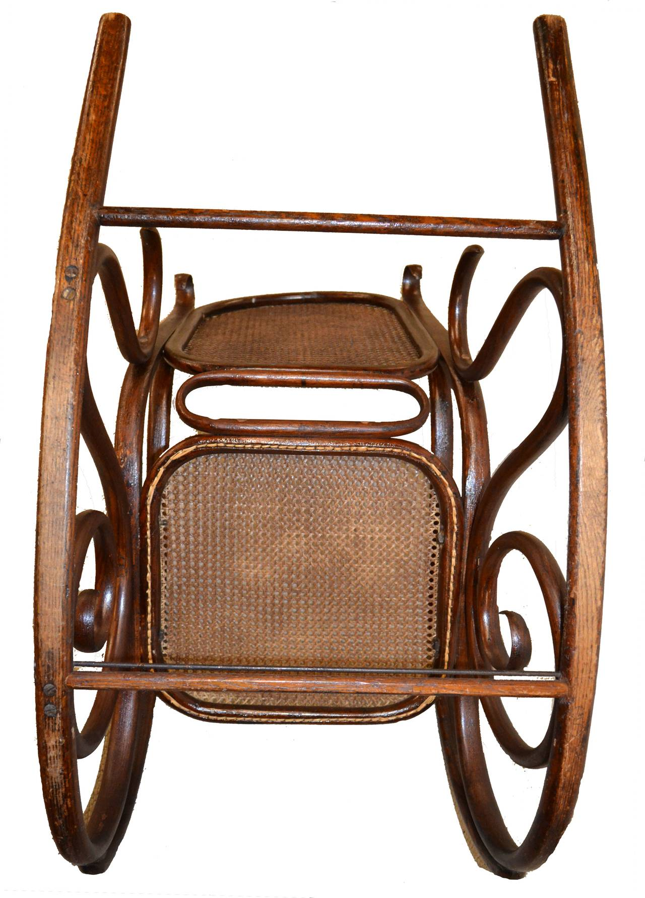 Original white painted bentwood rocking chair is no longer available - 19th Century Thonet Bentwood Rocker Chair 3