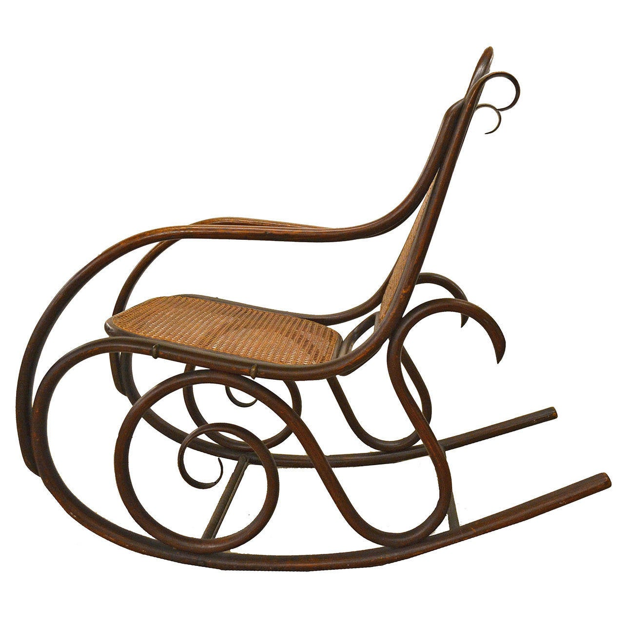 Original white painted bentwood rocking chair is no longer available - 19th Century Thonet Bentwood Rocker Chair 1