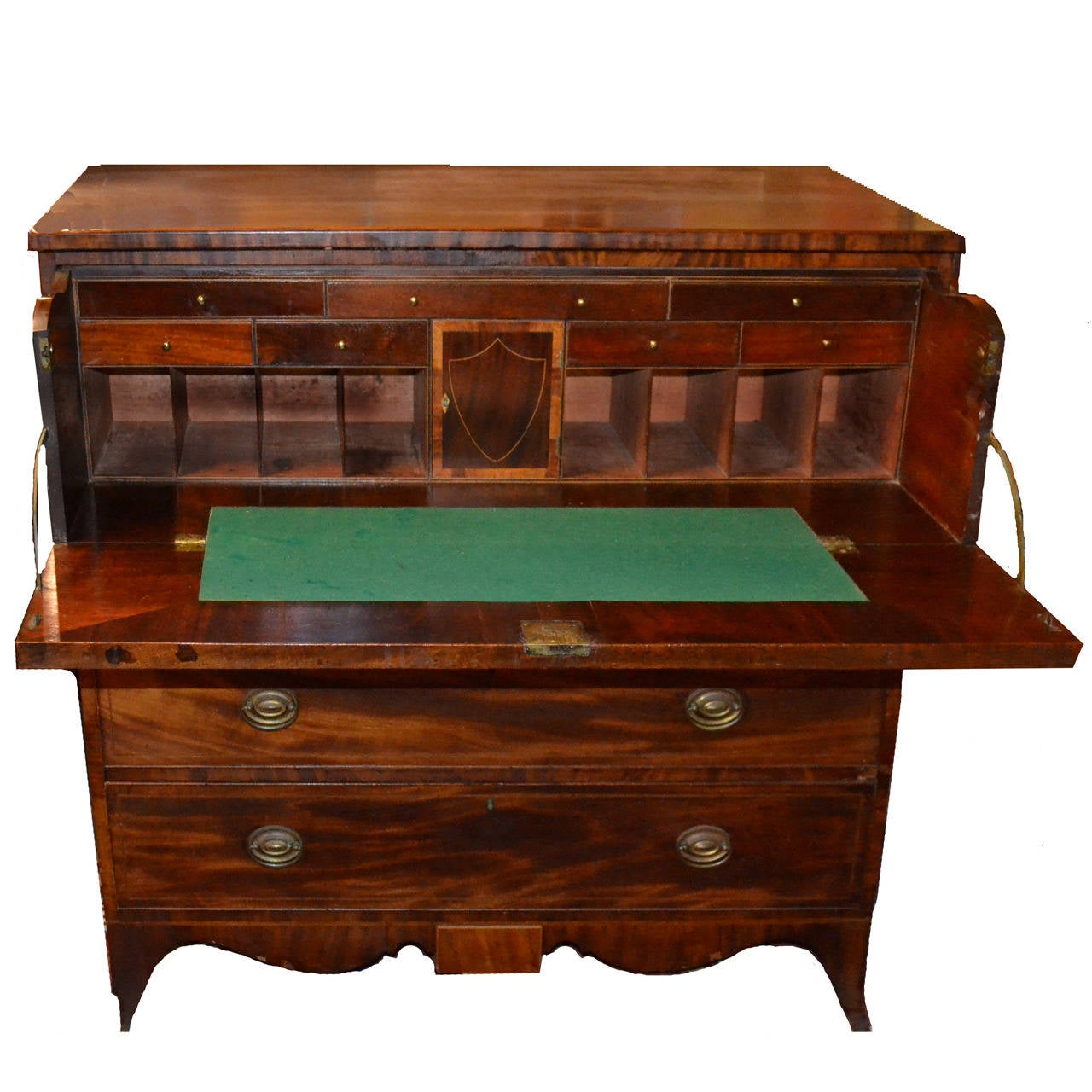 Federal period hepplewhite fall front butler s desk for