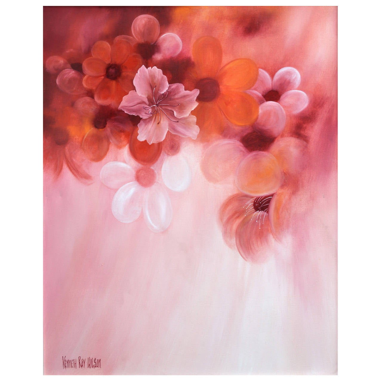 Hibiscus and balloon flowers painting for sale at 1stdibs hibiscus and balloon flowers painting for sale izmirmasajfo
