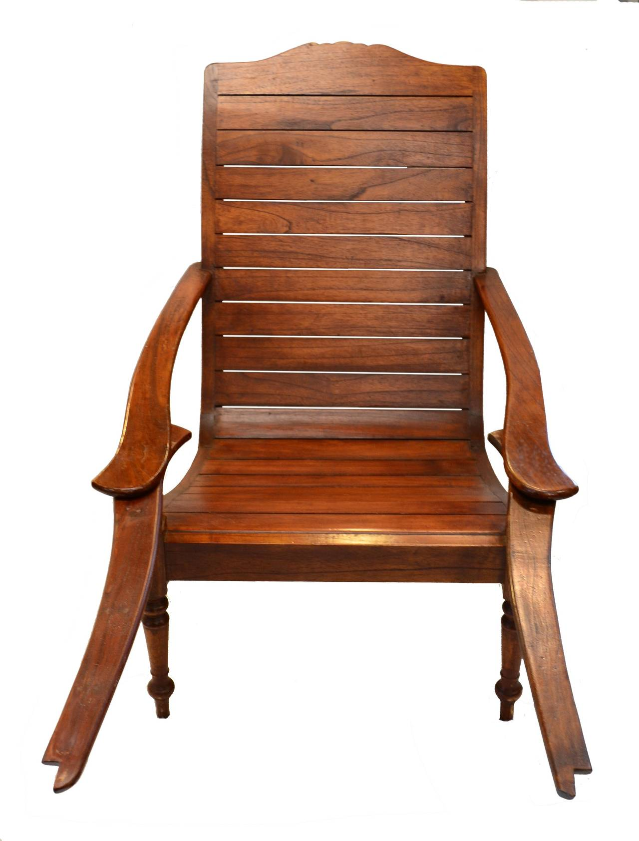 Teak plantation chair - Plantation Chair With Swivel Out Footrests 2