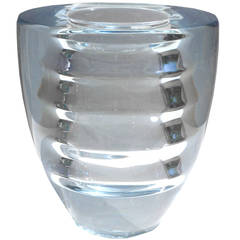 Rare 1937 Edvin Öhrström Orrefors Optic Ribbed Vase