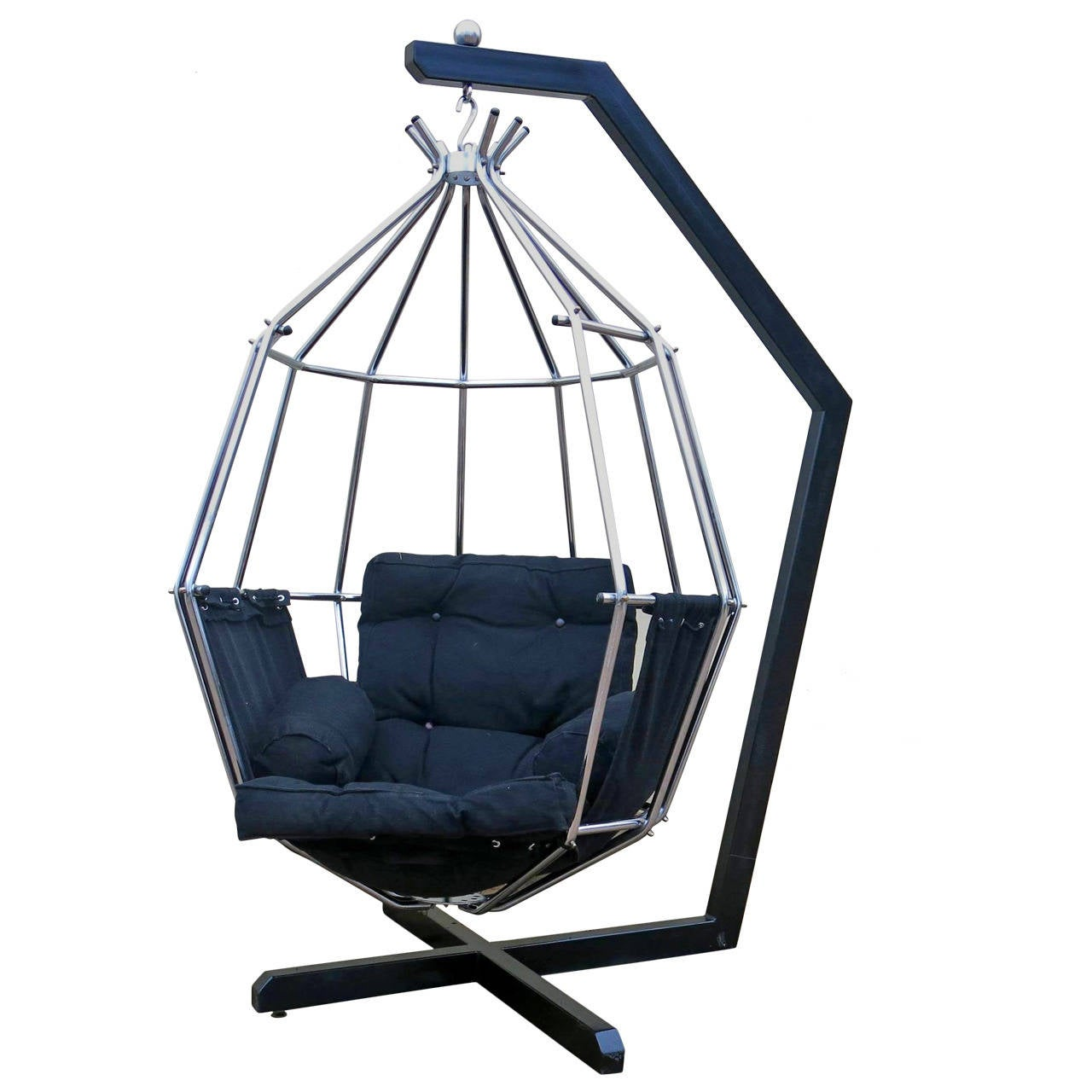Ib Arberg Hanging Birdcage Or Parrot Chair Circa 1970 At