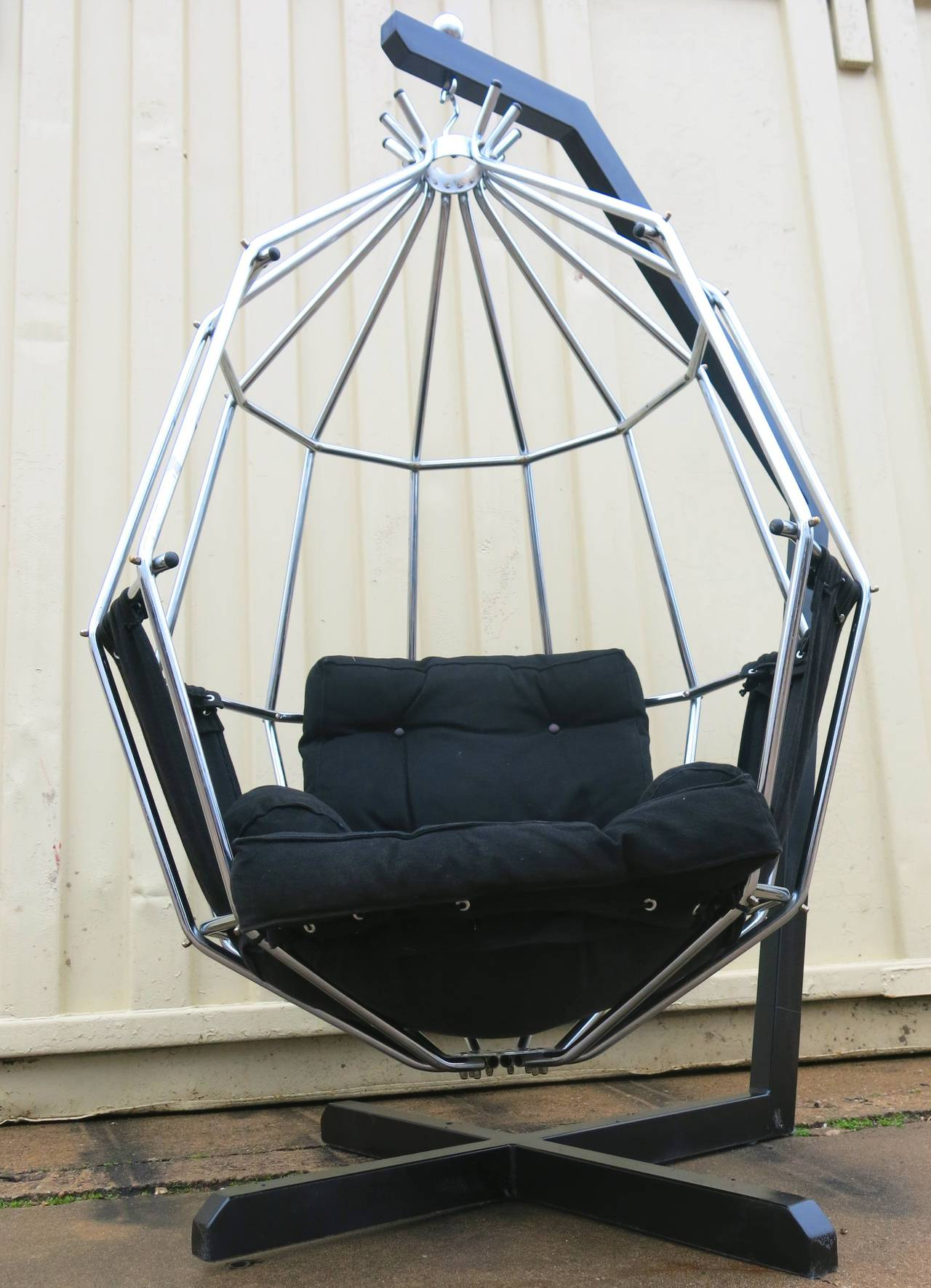 High Quality Ib Arberg Hanging Birdcage Or Parrot Chair, Circa 1970 At 1stdibs