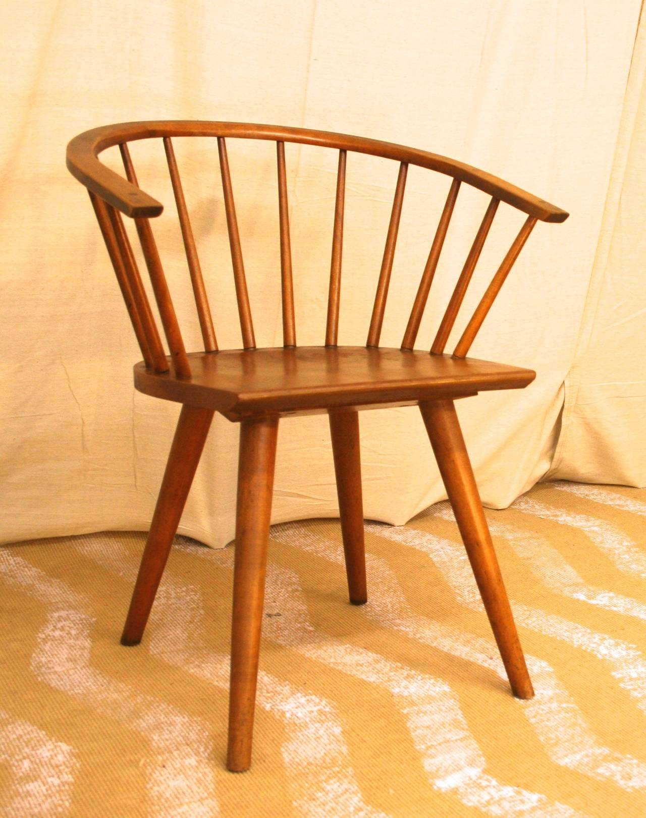 Pair of Conant Ball Maple Dining Chairs circa 1950s at 1stdibs