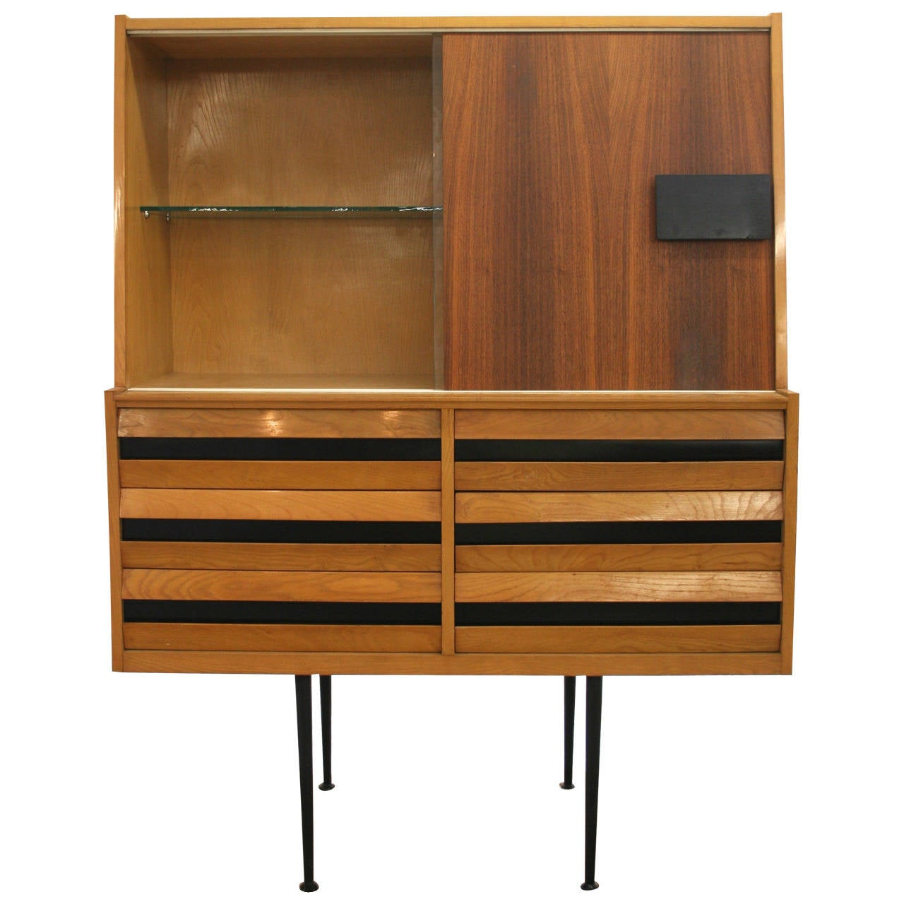 midcentury italian modern china cabinet or dry bar 1