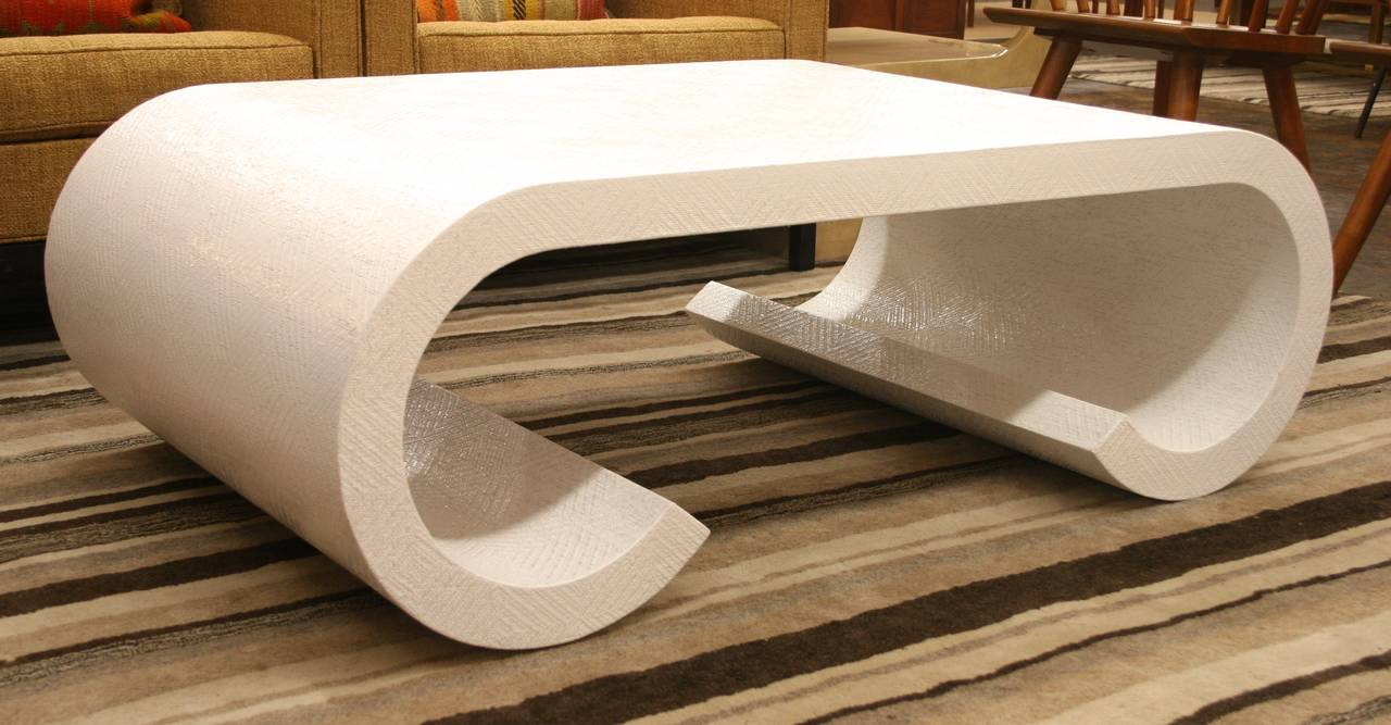 Lacquered 1970s Waterfall Edge Coffee Table in the Style of Karl Springer 3