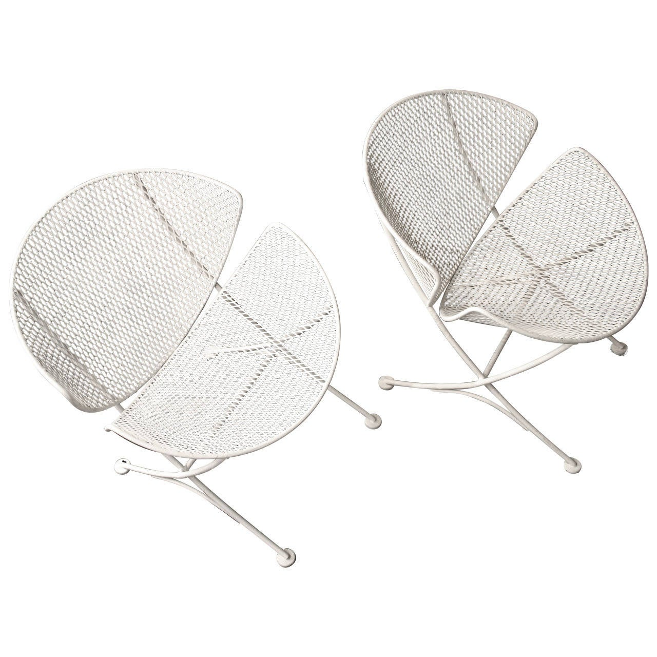 Mesh patio chairs in the style of salterini circa 1950 at for Mesh patio chairs
