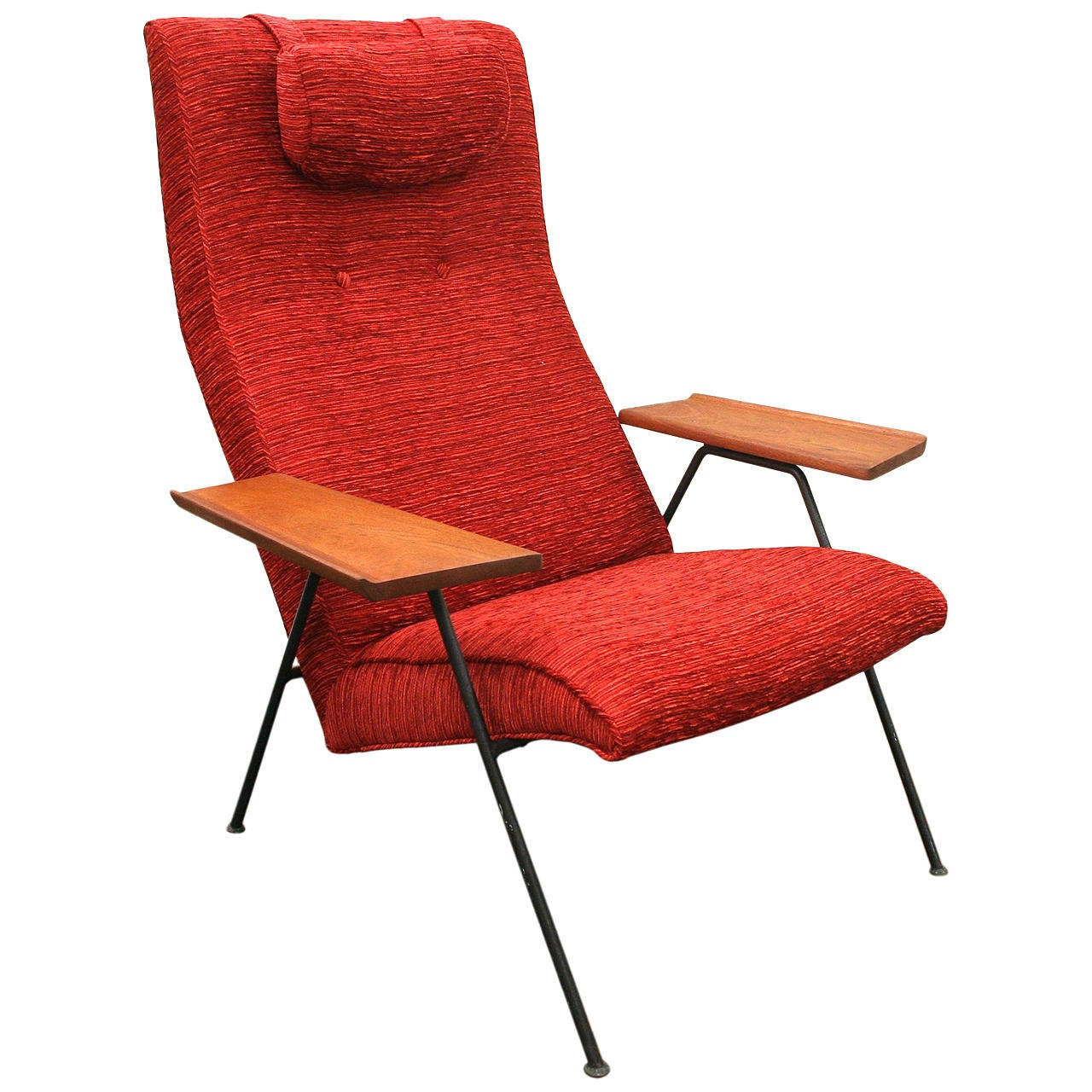 Wrought Iron Mid Century Modern Lounge Chair by Robin Day circa Early 1950s