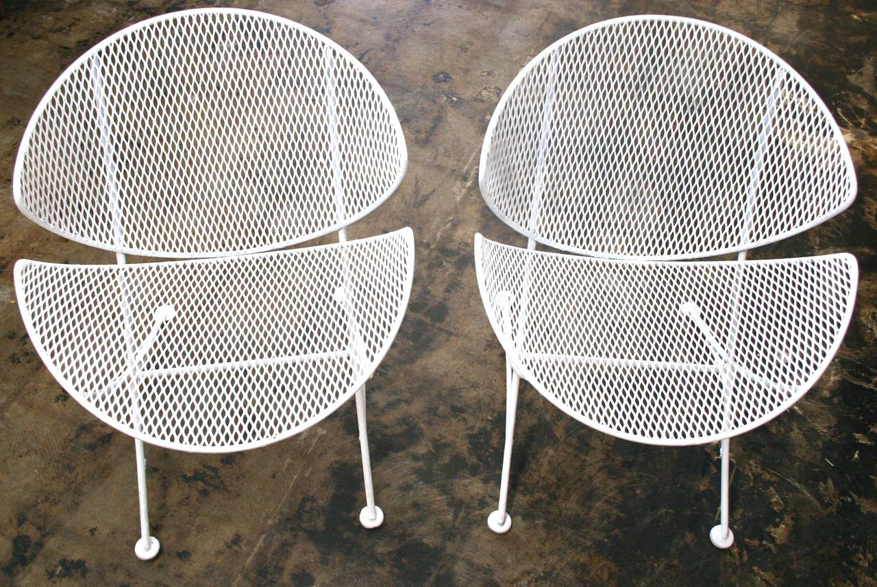Mesh Patio Chairs In The Style Of Salterini, Circa 1950 3