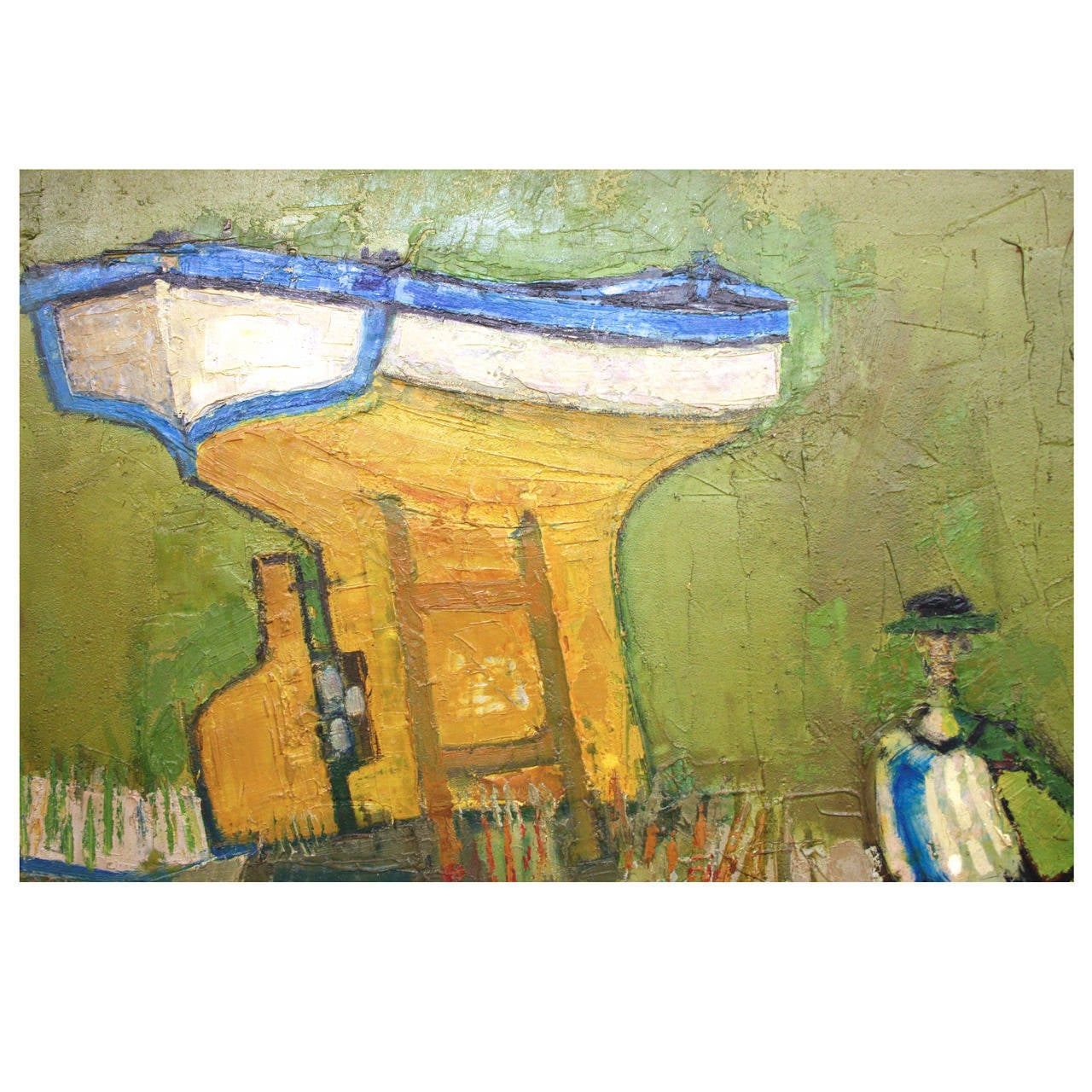 Mid-Century Modern Oil on Canvas Painting by David Adickes, circa 1962 1