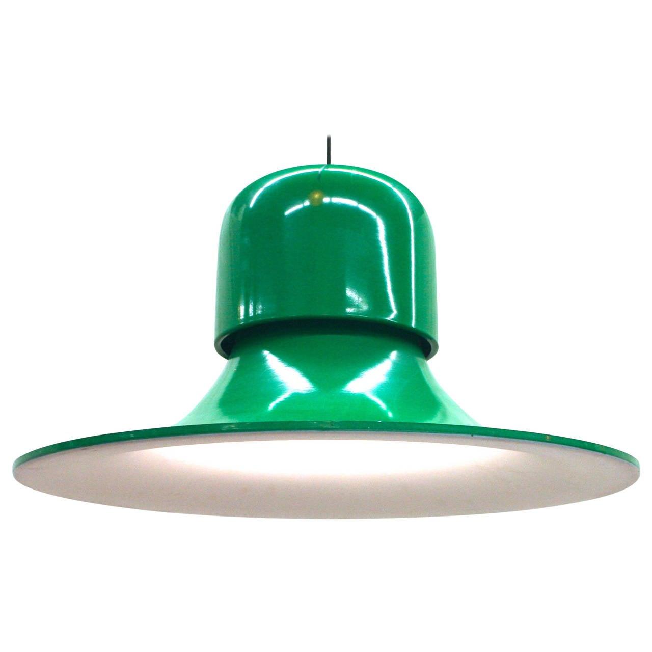 italian pendant lighting. stilnovo emerald green enamel bellshaped italian pendant light 1 lighting l