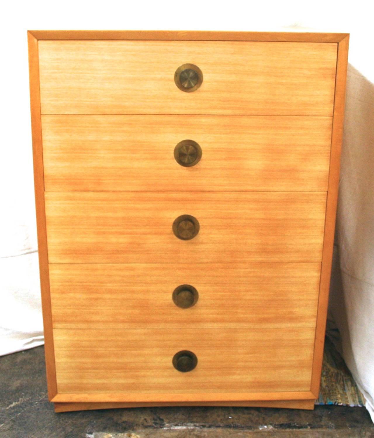 Large Mid-Century Modern Highboy Chest or Dresser c. 1950s ...