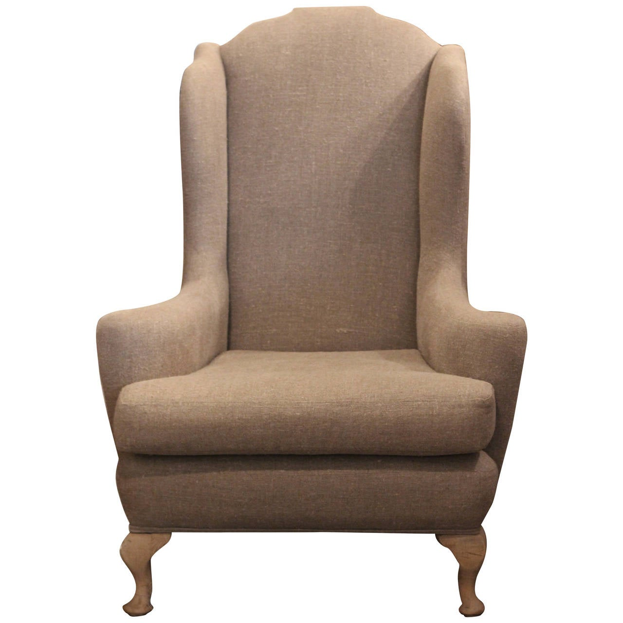 Linen Arm Chair For Sale at 1stdibs