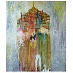 "Yury Kharchenko, ""Snowy House"" Painting"