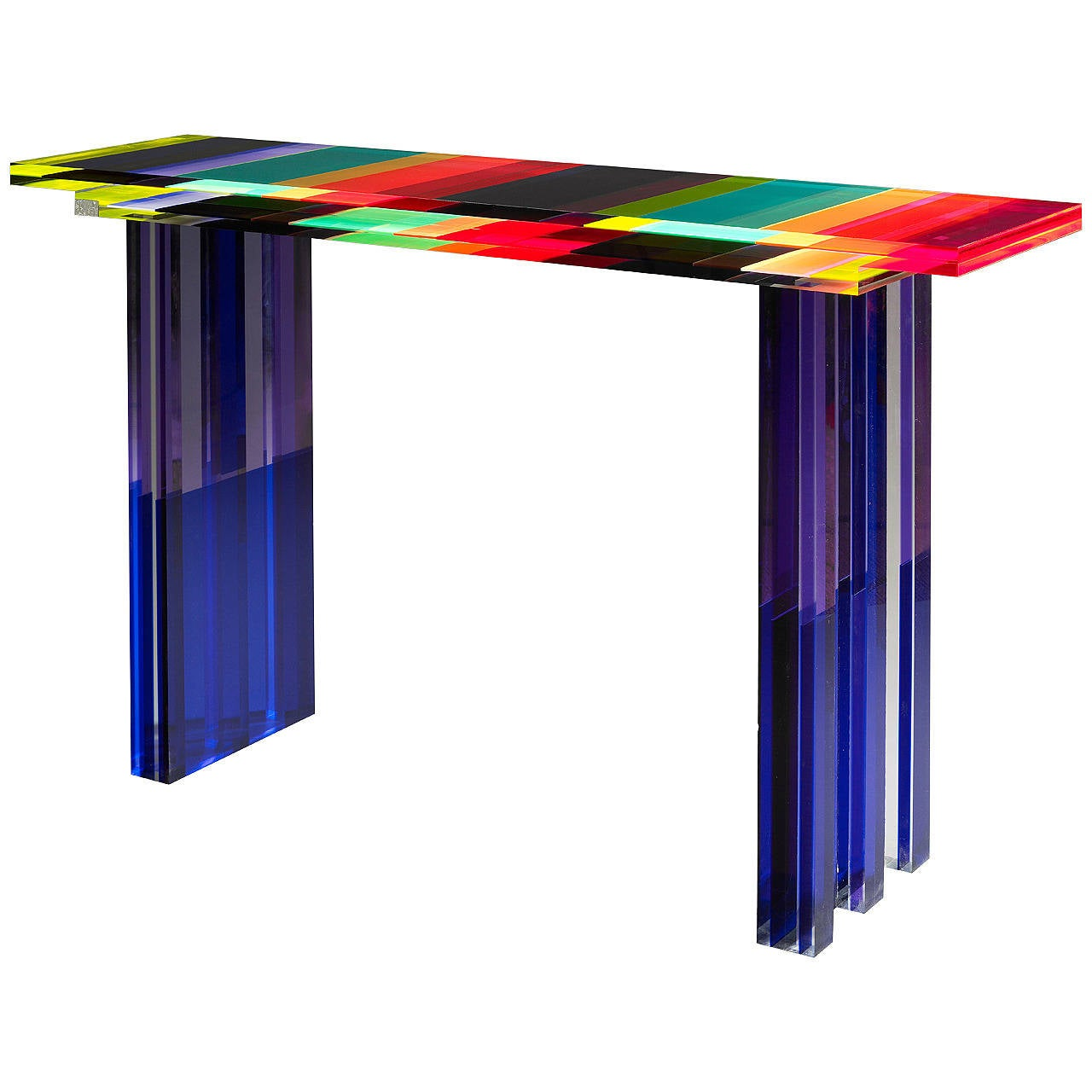 Unique Colorful Console Table By Charly Bounan At 1stdibs