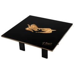 """Beautiful and Rare After Georges Braque Coffee Table, """"Zétès et Calais"""""""