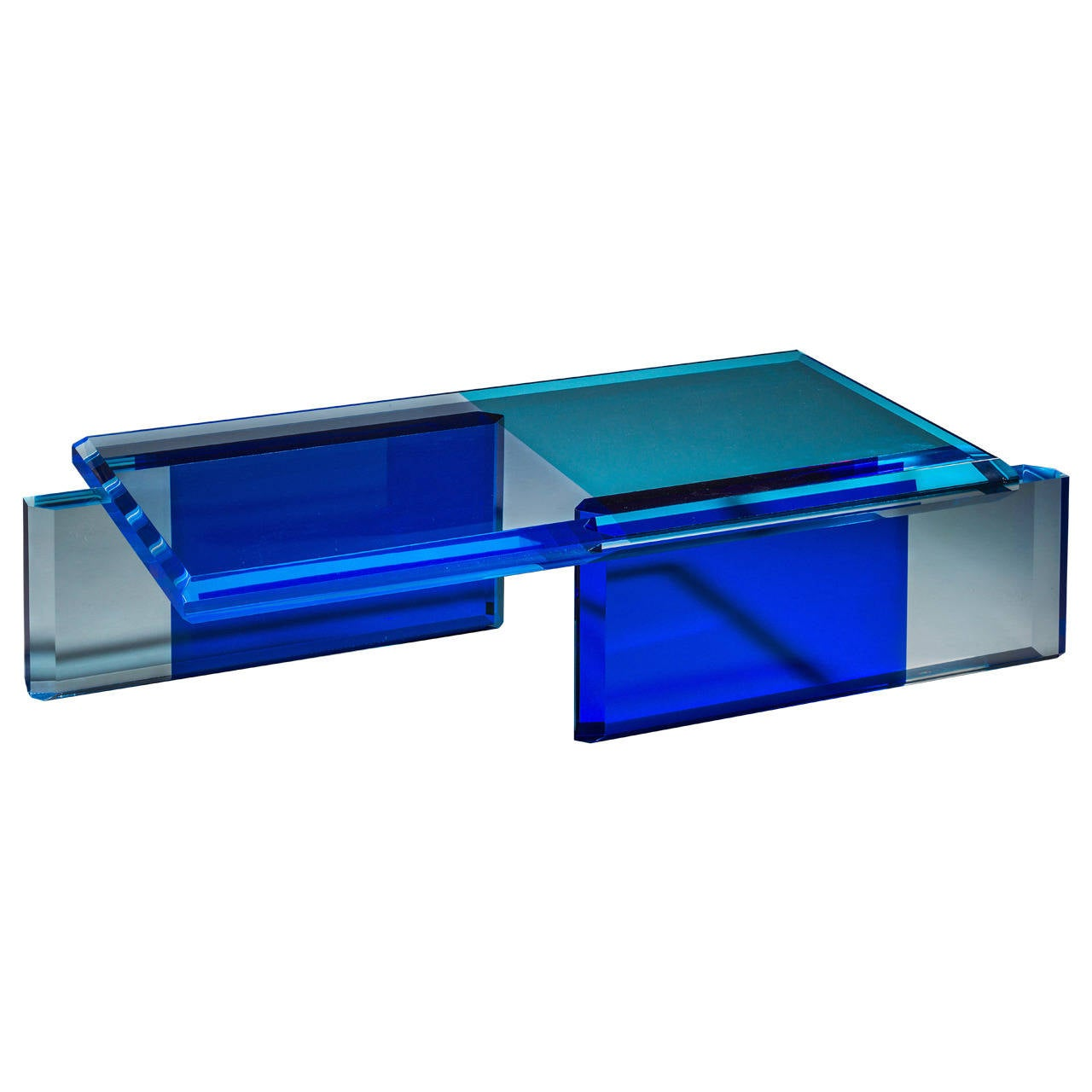 Beautiful Unique Blue Coffee Table By Charly Bounan For Sale At 1stdibs