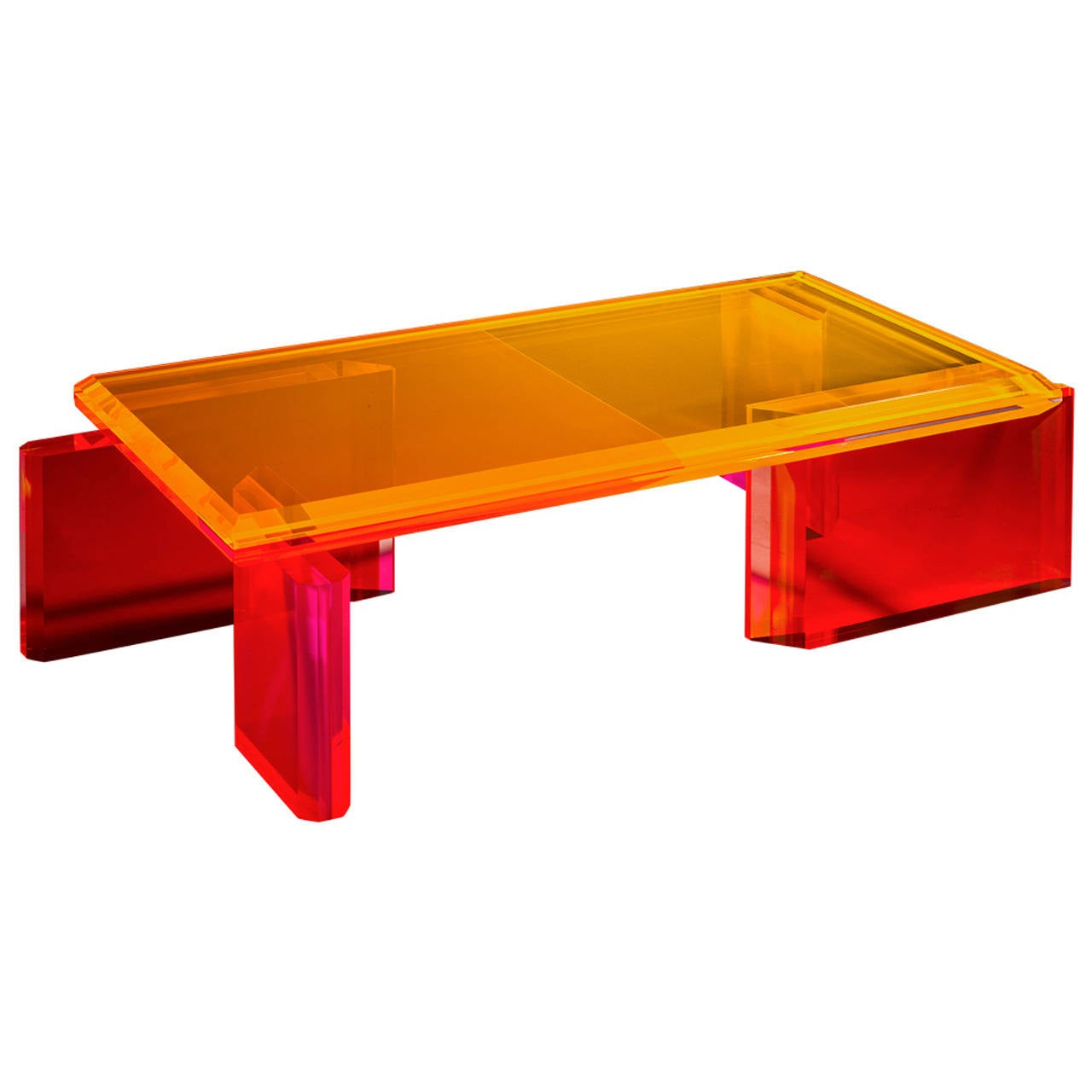 Beautiful unique colorful coffee table by charly bounan for Beautiful coffee tables