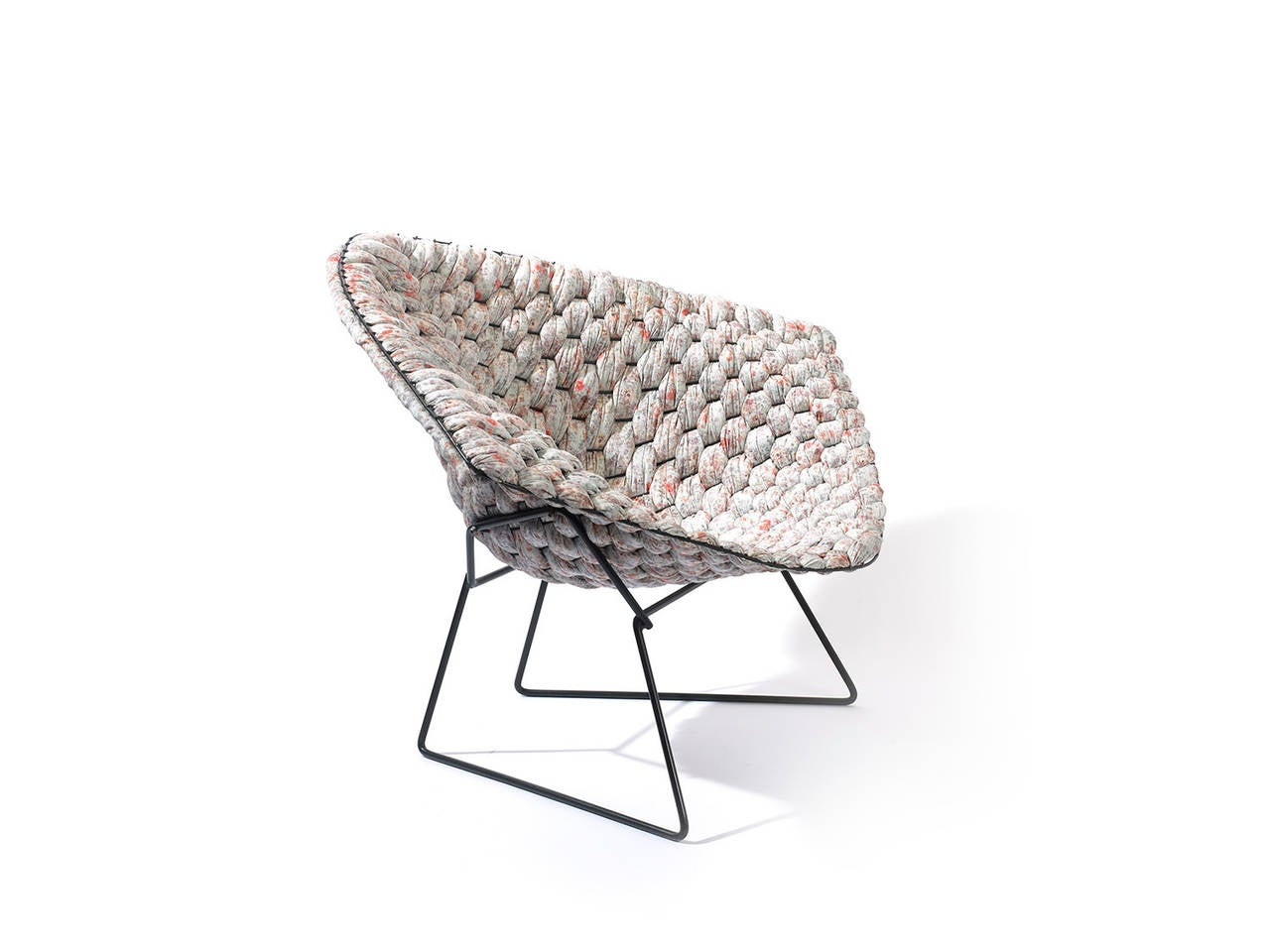 original bertoia diamond chair revisited by cl ment brazille at 1stdibs. Black Bedroom Furniture Sets. Home Design Ideas