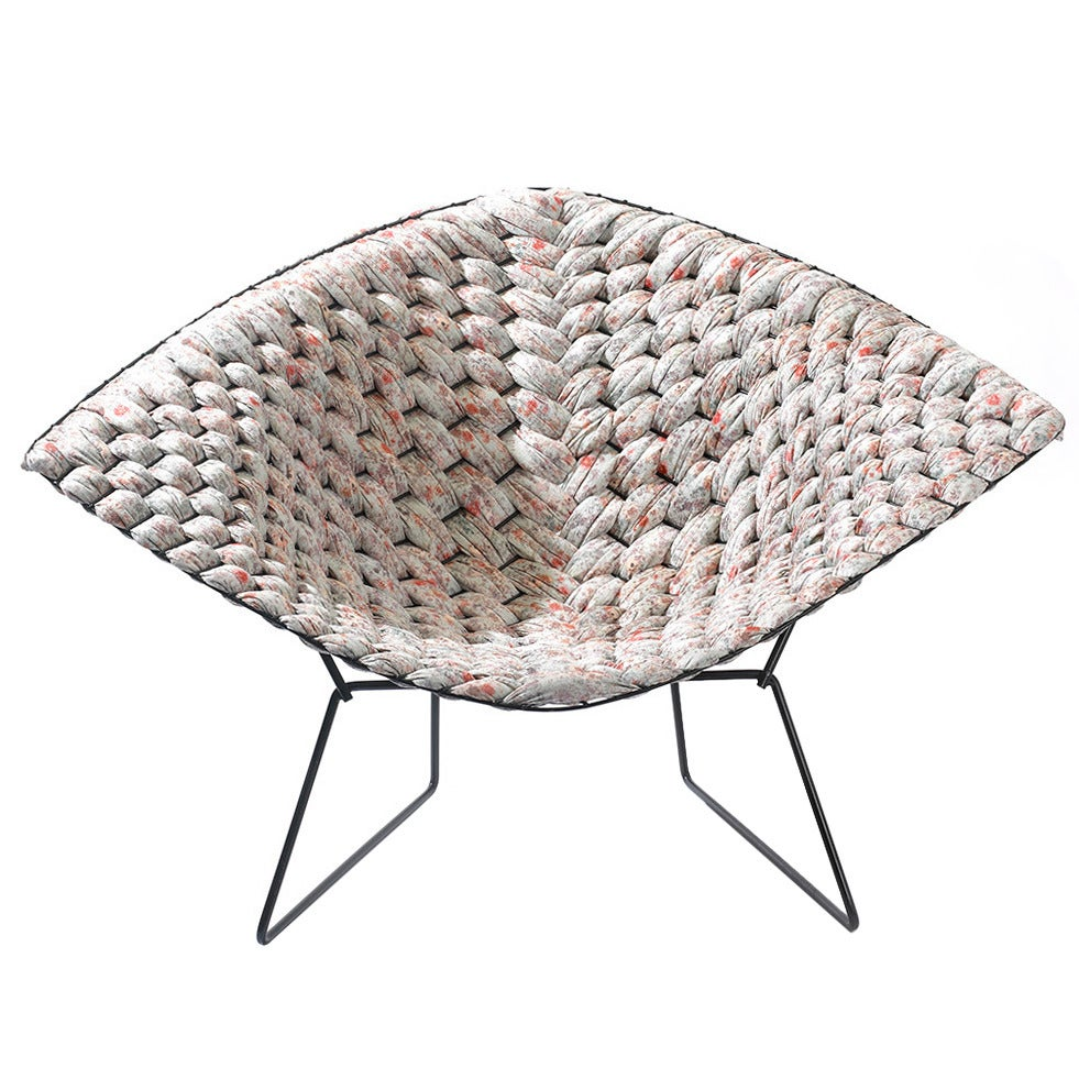 Bertoia diamond chair dimensions - Original Bertoia Diamond Chair Revisited By Cl Ment Brazille 1
