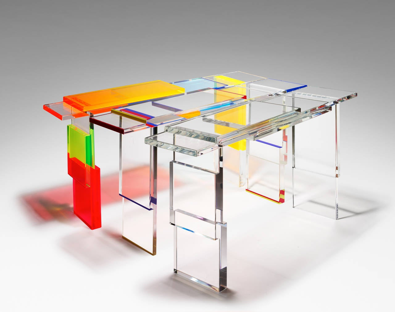 Colorful Destructured Console Table by Charly Bounan 4