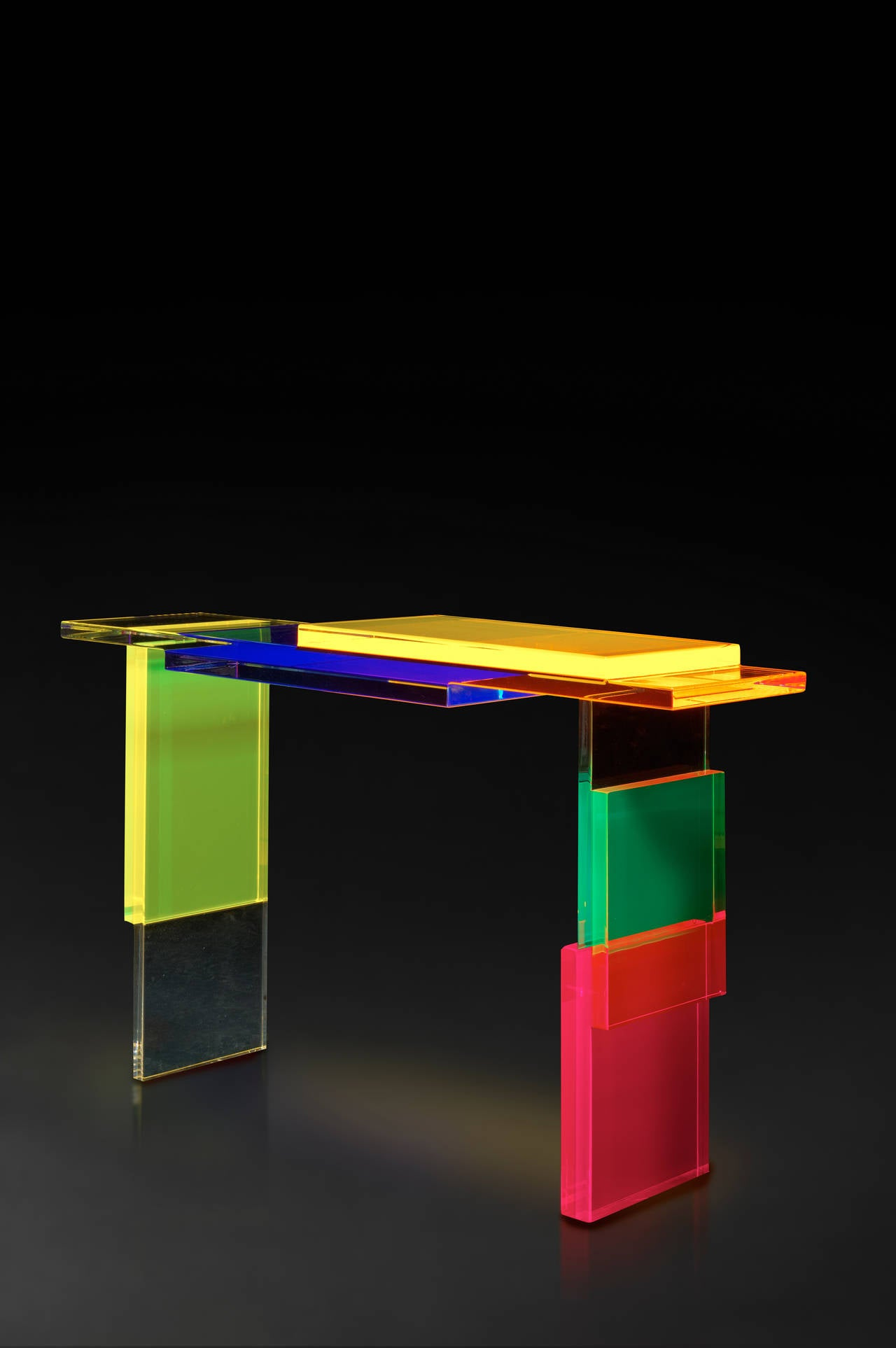 Colorful Destructured Console Table by Charly Bounan 2