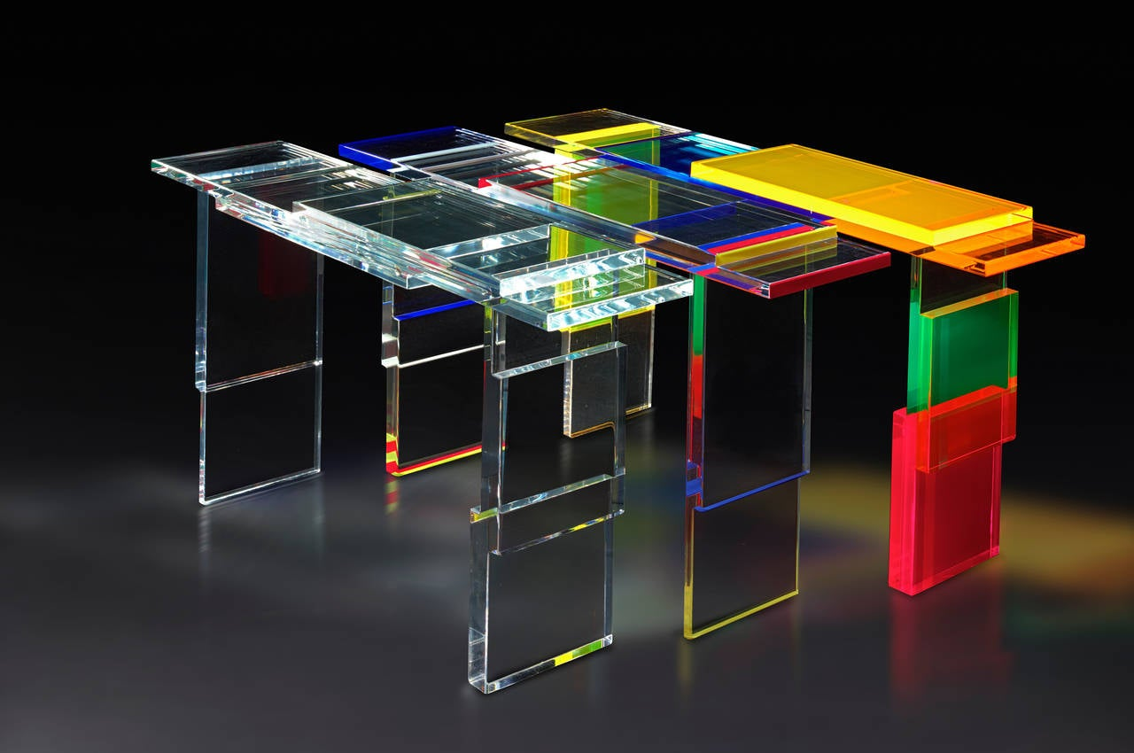Colorful Destructured Console Table by Charly Bounan 3