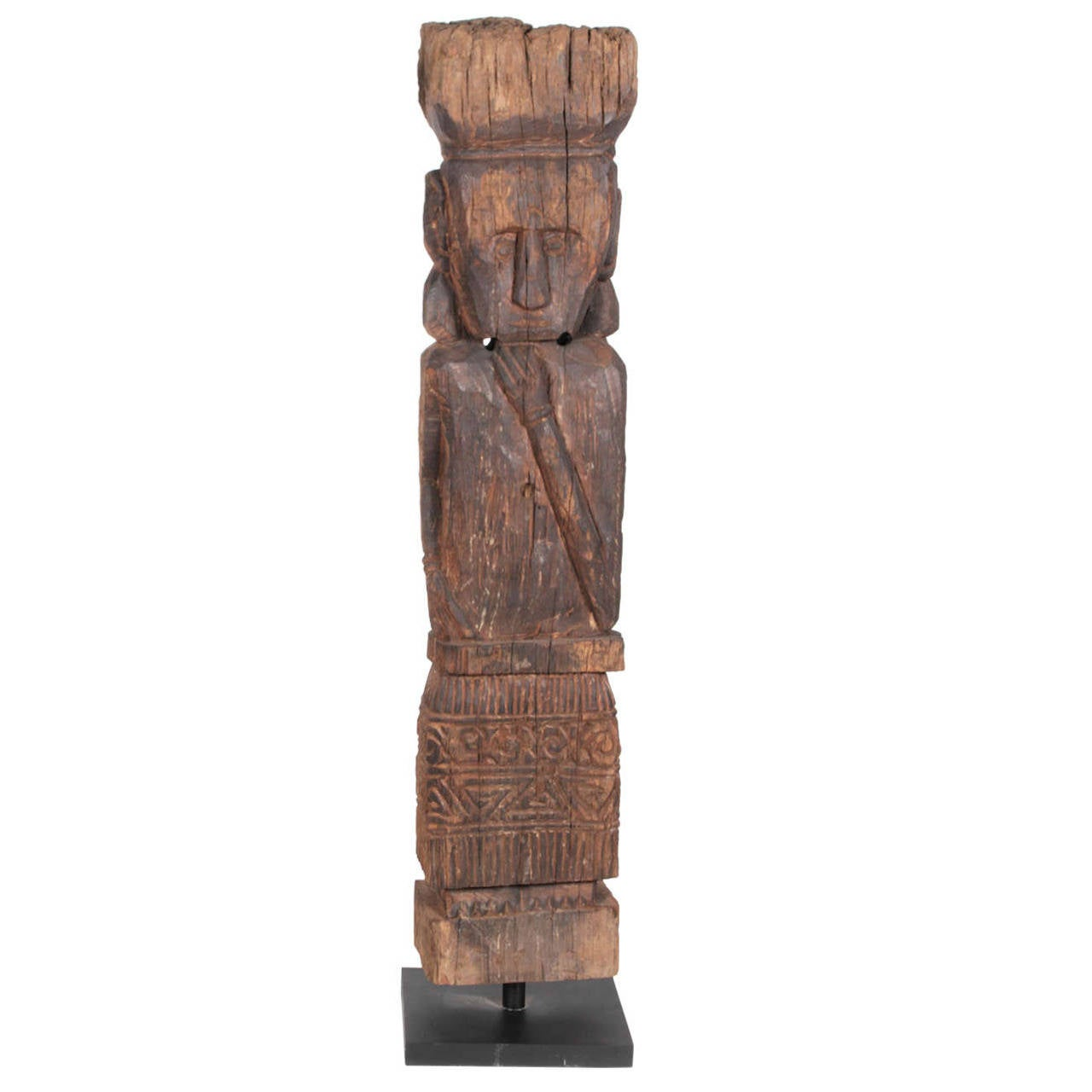 Indonesian Hand Carved Wood Figure At 1stdibs