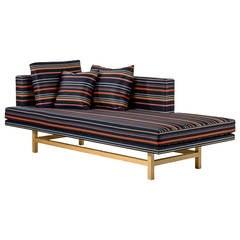 Mayweather Sofa With Tufted Silk Velvet Back In Fuchsia