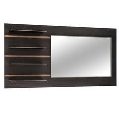 Watanabe Shelf Unit with Mirror, Wall Hung with Optional TV Mount