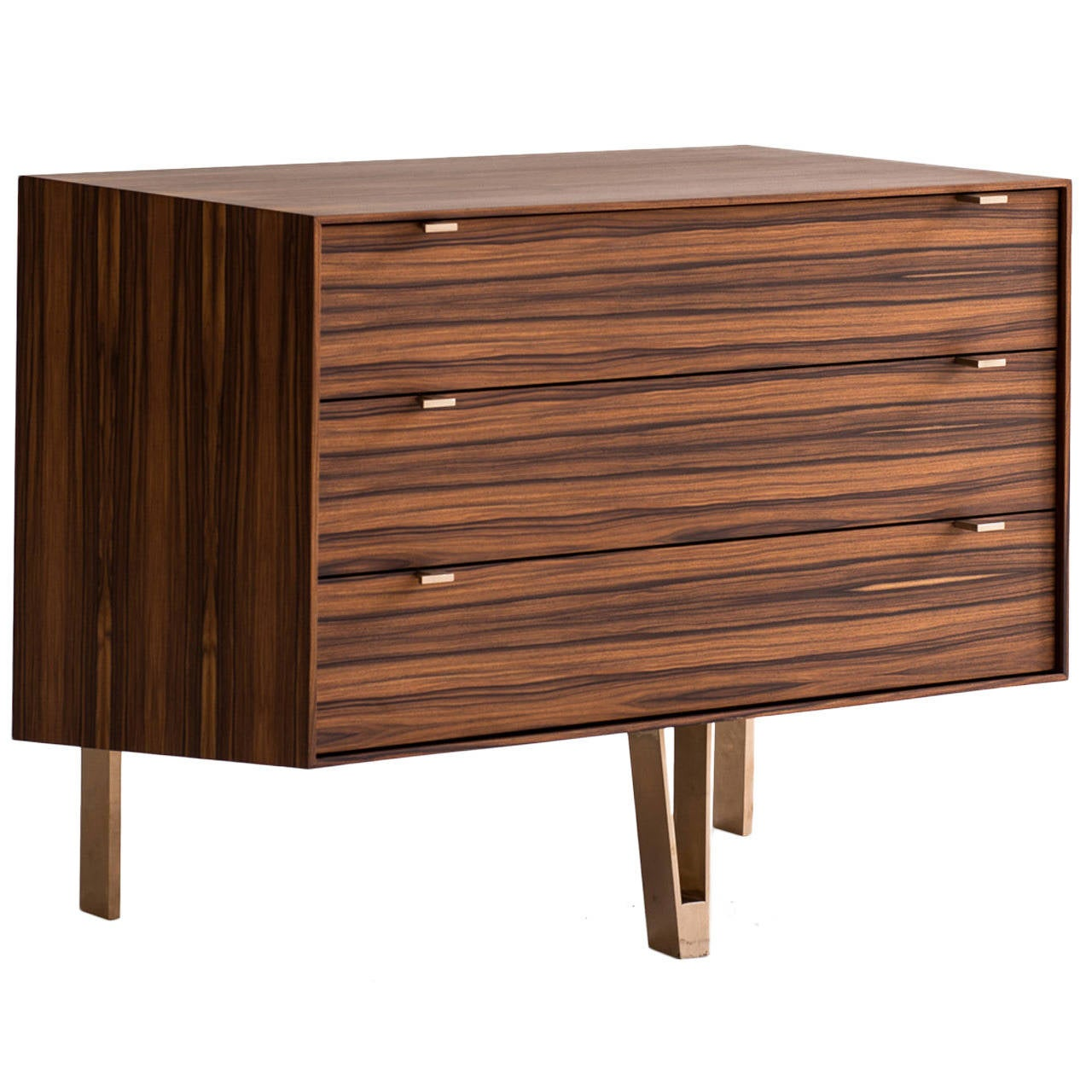 Saxton Cabinet / Side Table / Dresser in  South American Rosewood & Bronze Legs