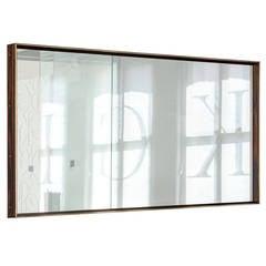 Starling Mirror, African Ebony Veneer, Bronze Frame