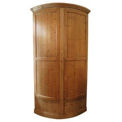 19th Century French Corner Cabinet in Pine