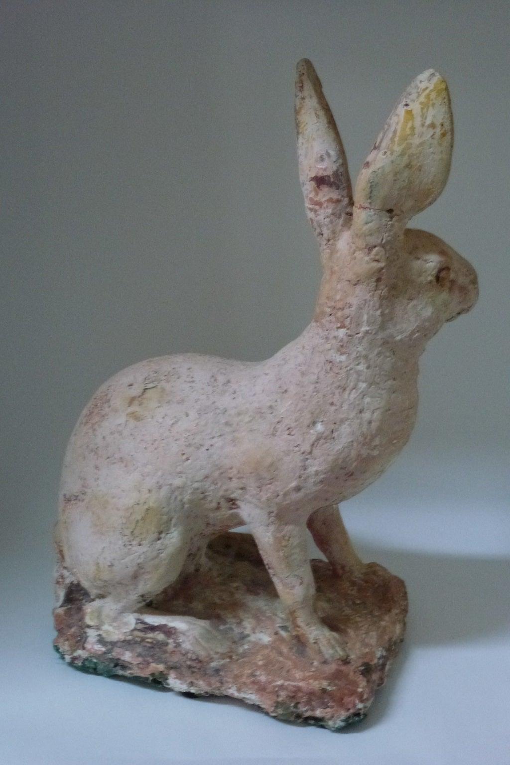 Animal Hair Plaster : Th century dutch plaster hare sculpture at stdibs