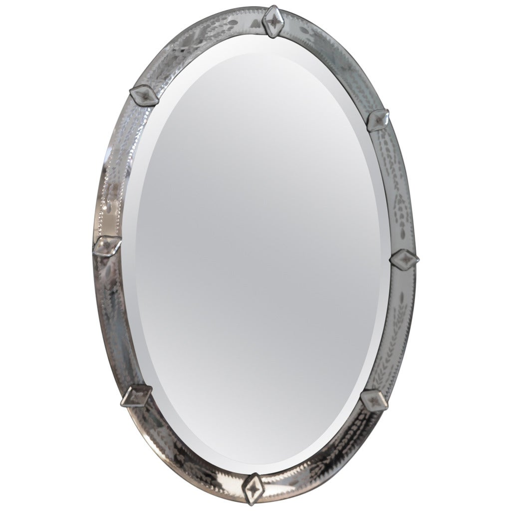 1920s Venetian Oval Mirror at 1stdibs