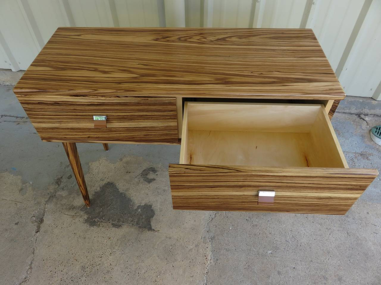 Custom Zebra Wood Console For Sale At 1stdibs