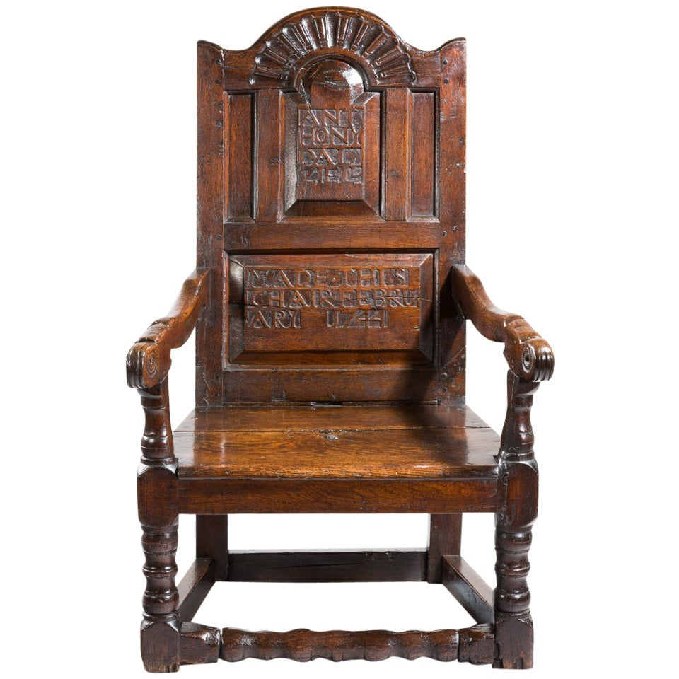Early Oak Wainscot Chair 1