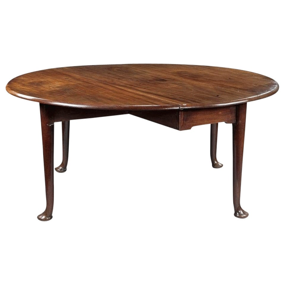 George ii mahogany drop leaf dining table at 1stdibs for Dining room tables drop leaf