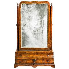 Early George I Walnut Dressing Table Mirror