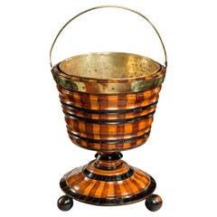 Dutch Mixed Wood Coopered Tea Bucket