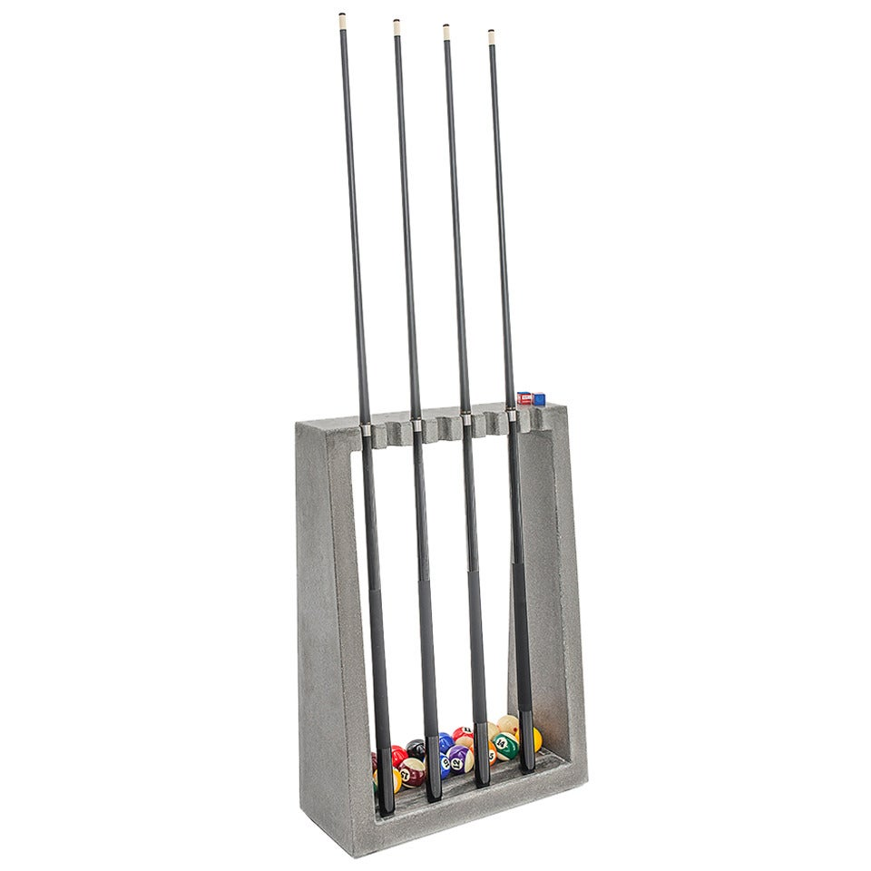 James De Wulf Cue Rack Floor Standing Concrete Billiards