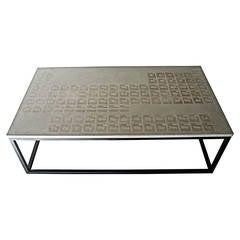 James de Wulf Periodic Coffee Table, Concrete and Steel