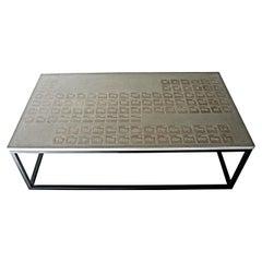 James de Wulf Periodic Coffee Table, Concrete and Steel