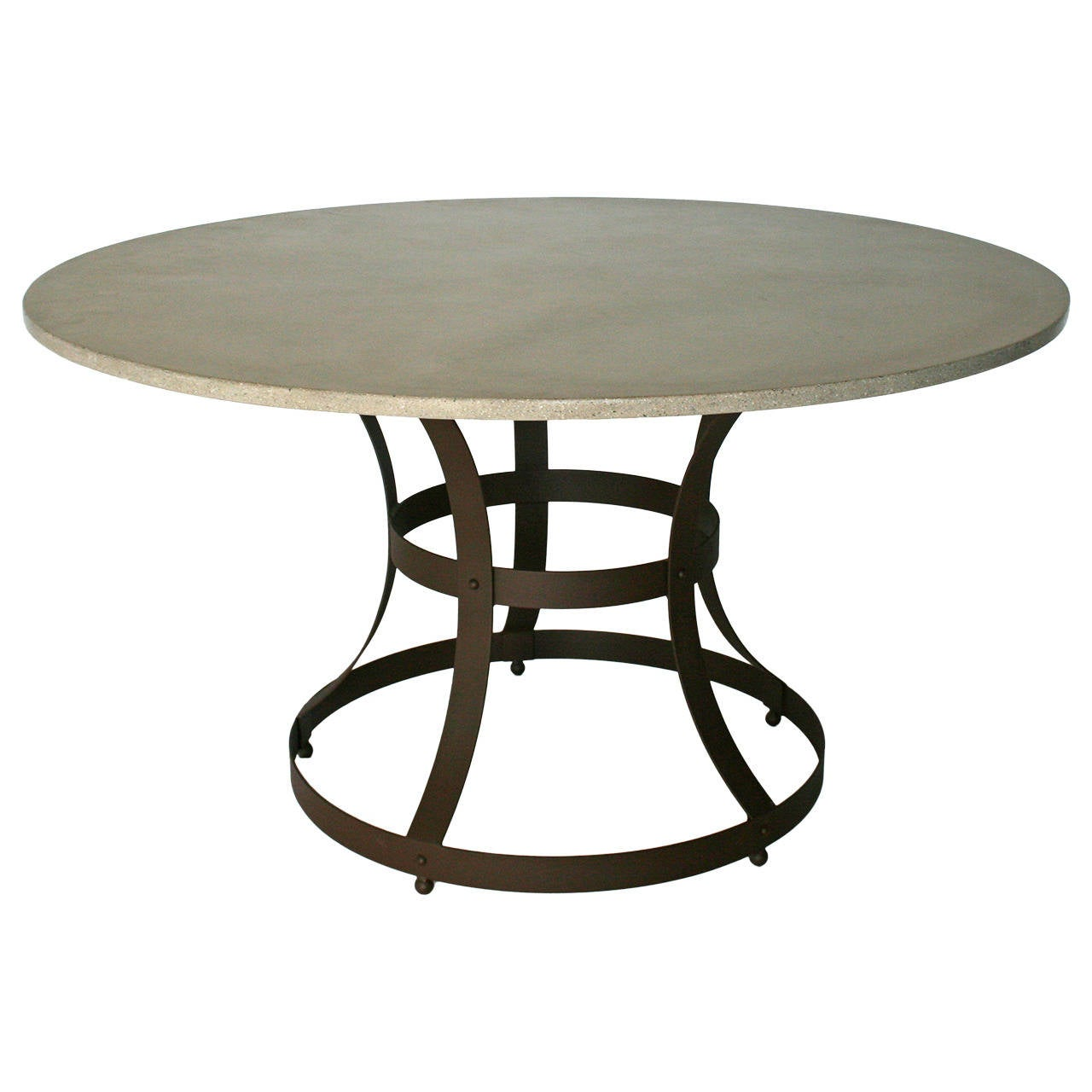 James de Wulf Hourglass Dining Table Concrete and Iron For Sale at 1stdibs