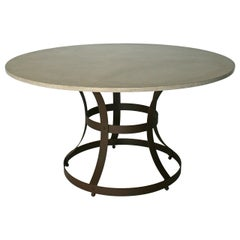 James de Wulf Hourglass Dining Table - Concrete and Iron