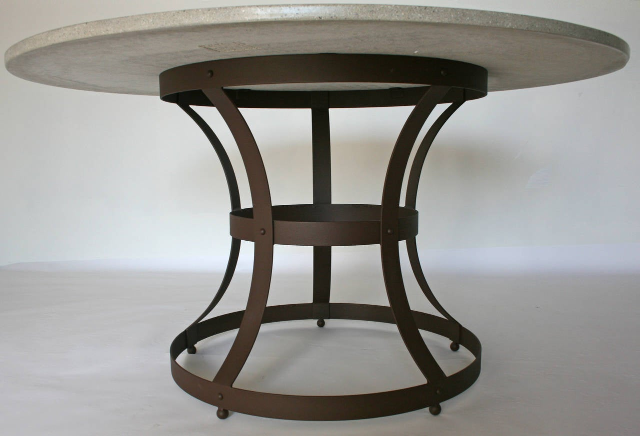 James de Wulf Hourglass Dining Table Concrete and Iron  : hourglassdining2l from www.1stdibs.com size 1280 x 873 jpeg 69kB