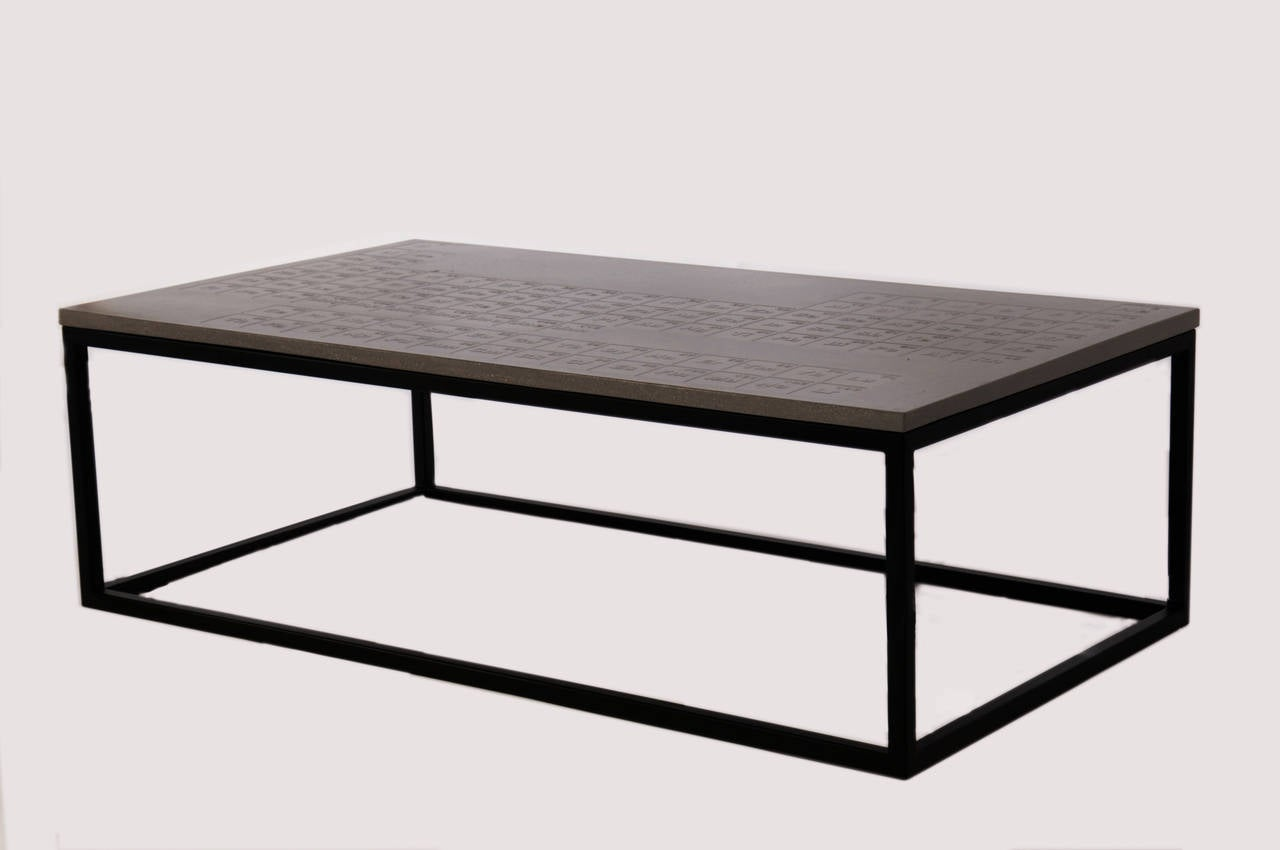 James De Wulf Coffee Table Designed With Periodic Table Of Elements At 1stdibs
